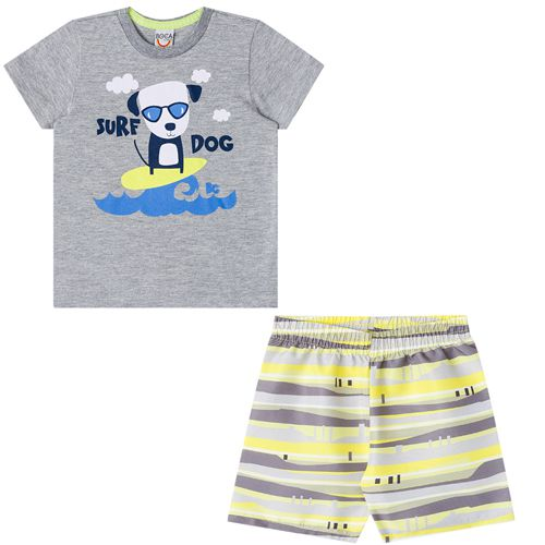 Conjunto Infantil Masculino Camiseta e Bermuda Boca Grande BG14363*