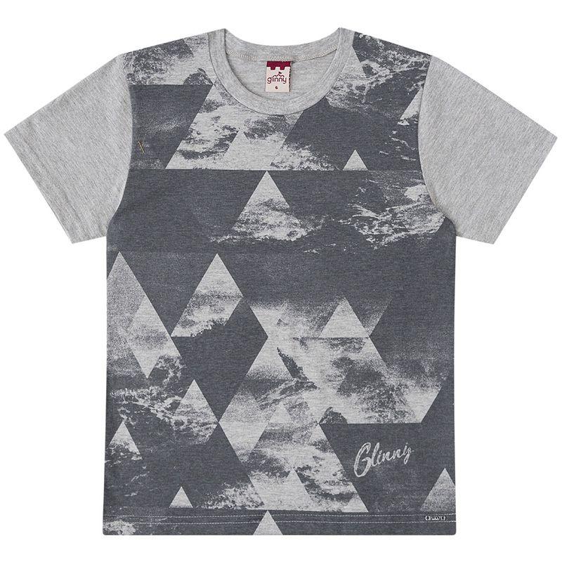 Conjunto Infantil Masculino Camiseta E Bermuda Jeans BG/G45829