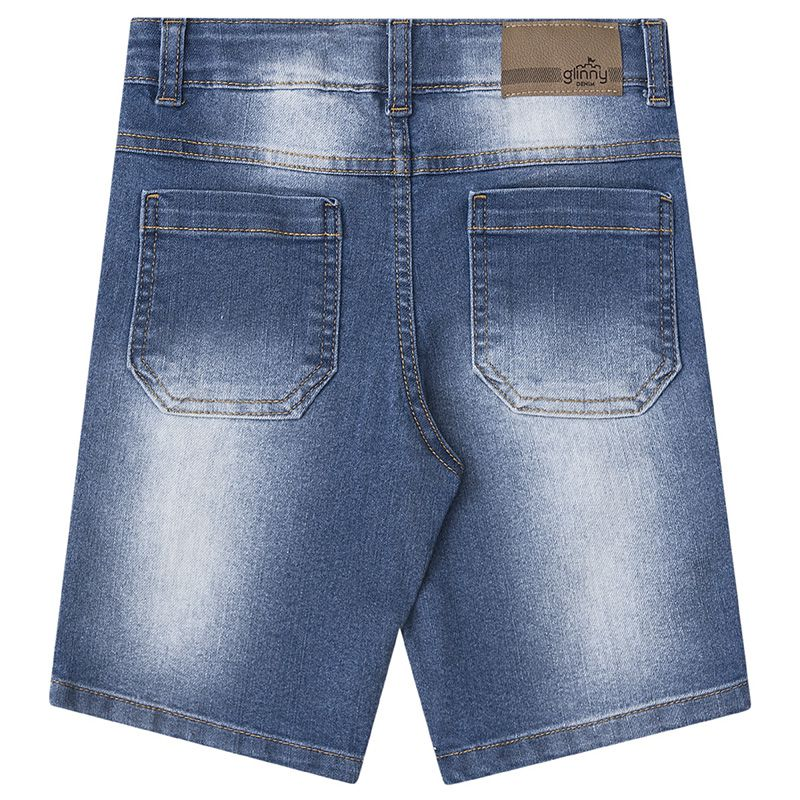 Conjunto Infantil Masculino Camiseta E Bermuda Jeans BG/G45829*