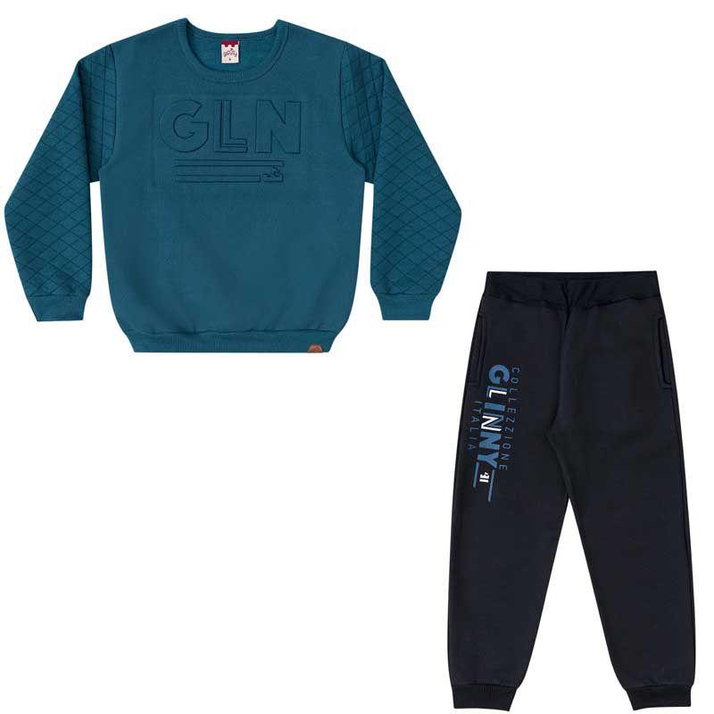 Conjunto Infantil Masculino Casaco e Calça Moletom BG/G32066*