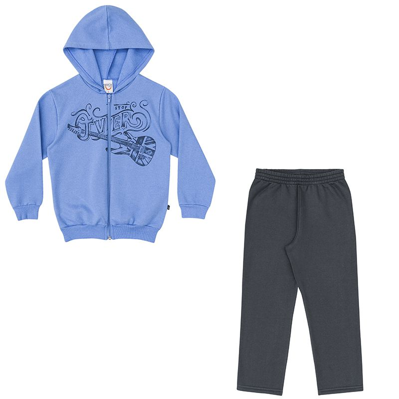 Conjunto Infantil Masculino Jaqueta e Calça Moletm BG45754*