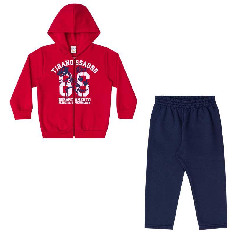 Conjunto Infantil Masculino Jaqueta e Calça Moletom BG15416