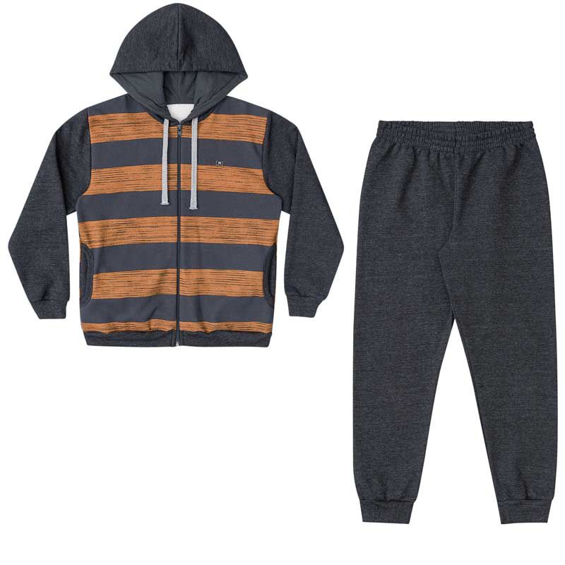 Conjunto Infantil Masculino Jaqueta e Calça Moletom BG/G32068*