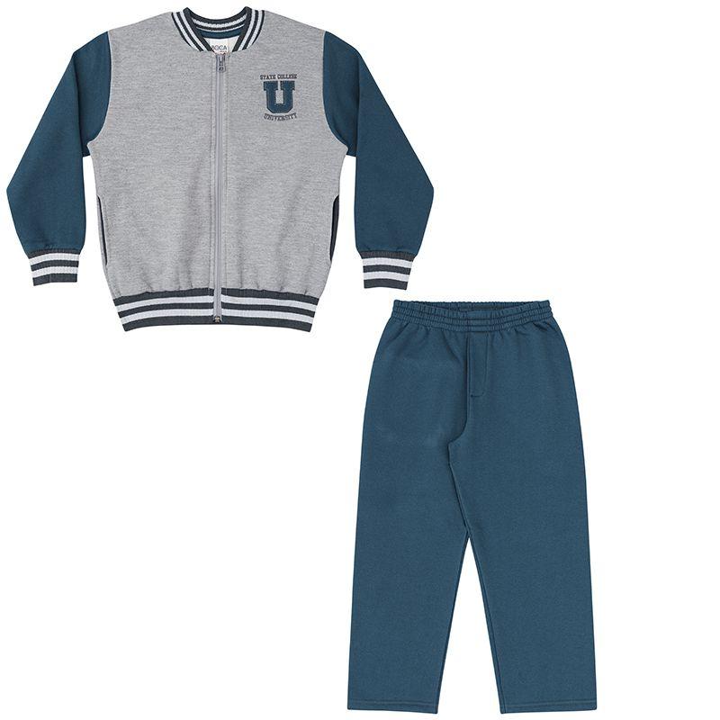 Conjunto  Infantil Masculino Moletom Boca Grande BG45762*