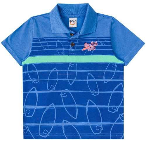 Conjunto Infantil Masculino Polo E Bermuda Boca Grande 15387