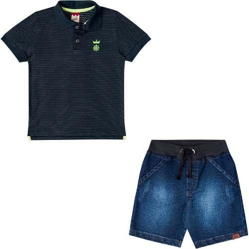 Conjunto Infantil Masculino Polo E Bermuda BG/G 31068*
