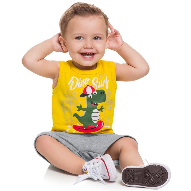 Conjunto Infantil Masculino Regata E Bermuda Boca Grande BG14354*