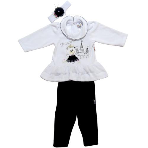 Conjunto Infantil Menina Inverno Urso Ki-Baby 719