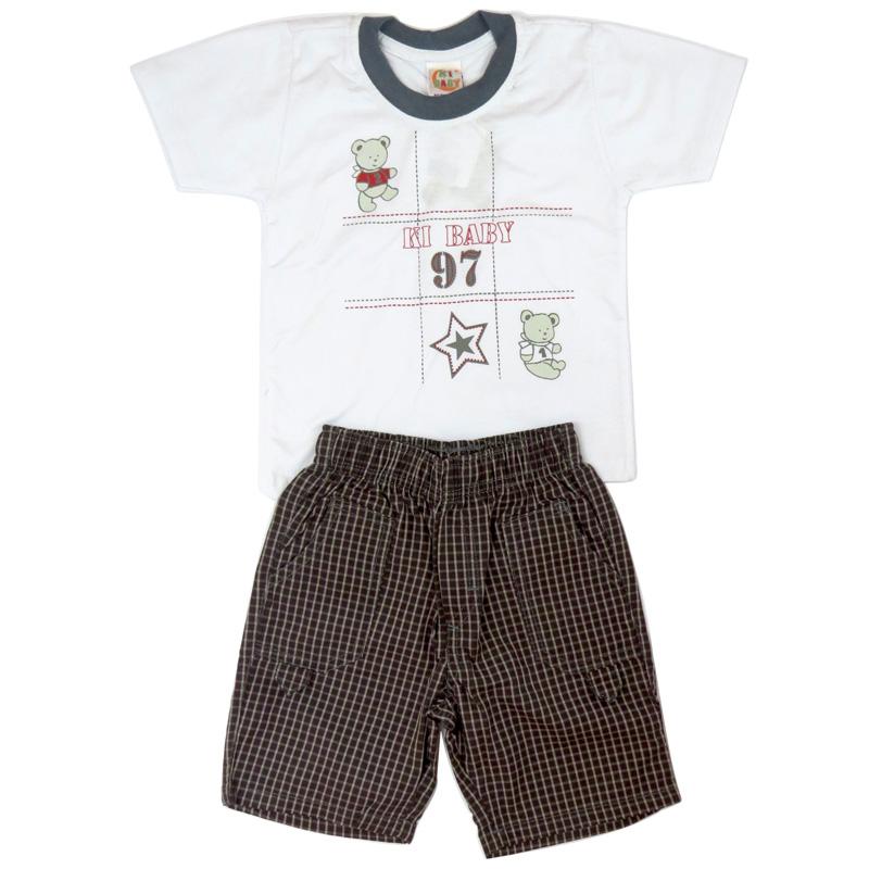 Conjunto Infantil Menino Camiseta e Bermuda Ki-Baby