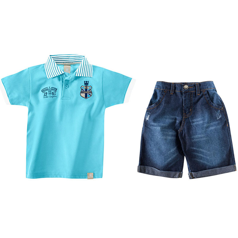 Conjunto Infantil Menino Polo e Bermuda Colorittá 17648