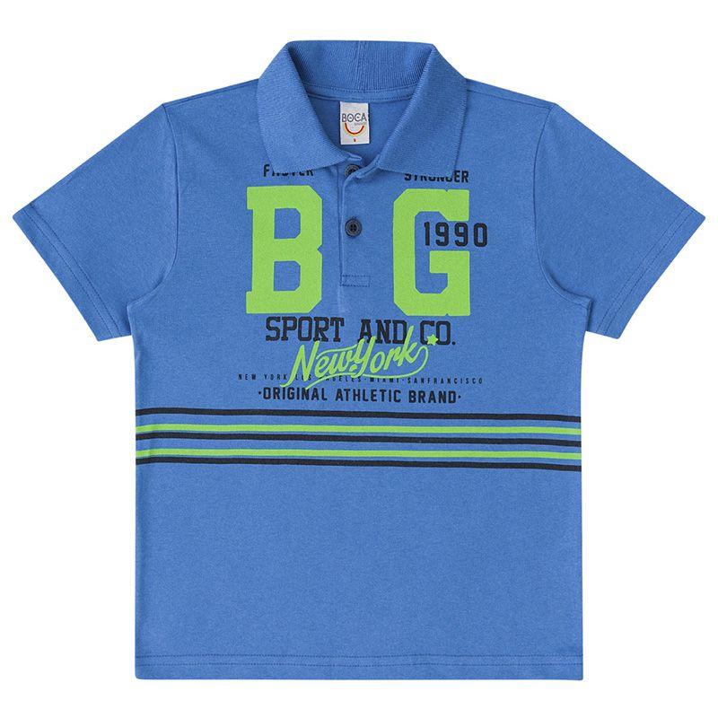 Conjunto Polo E Bermuda Menino Boca Grande BG45815