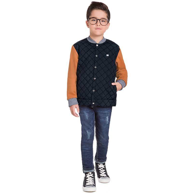 Jaqueta Infantil Masculina Matelassê com Forro em Pêlo BG32050*