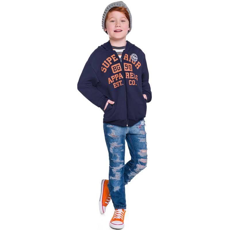 Jaqueta Infantil Masculino Moletom com Capuz BG45976*