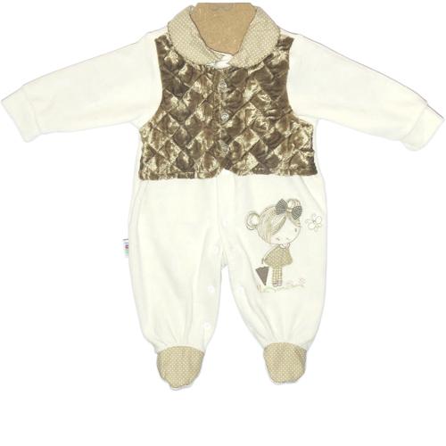 Jardineira Infantil Bebê Menina Ki-Baby 998