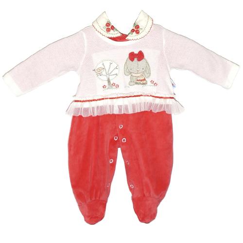 Macacão Infantil Menina Gola Bordada Ki-Baby 13021