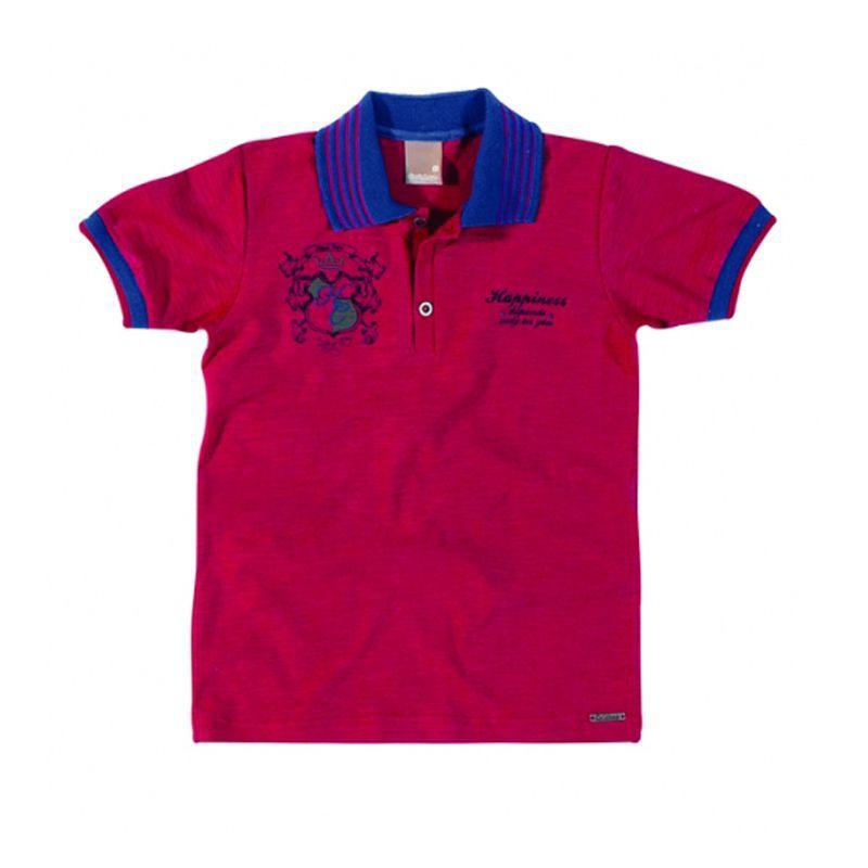 Polo Infantil Masculina Camisa Vermelha Carinhoso C62.778*