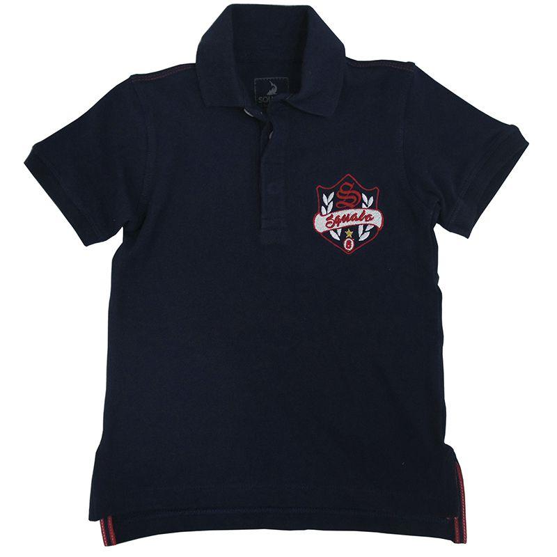 Polo Infantil Masculina Squalo Camiseta S03080056*