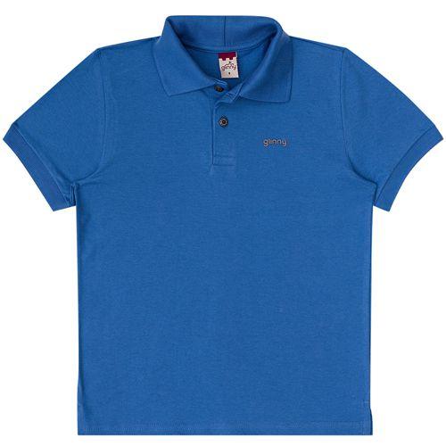 Polo Infantil Masculino Verão Azul Boca Grande BG/G 32036*