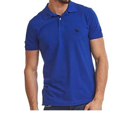 Polo Masculina Manga Curta Camisa Acostamento Azul 8688