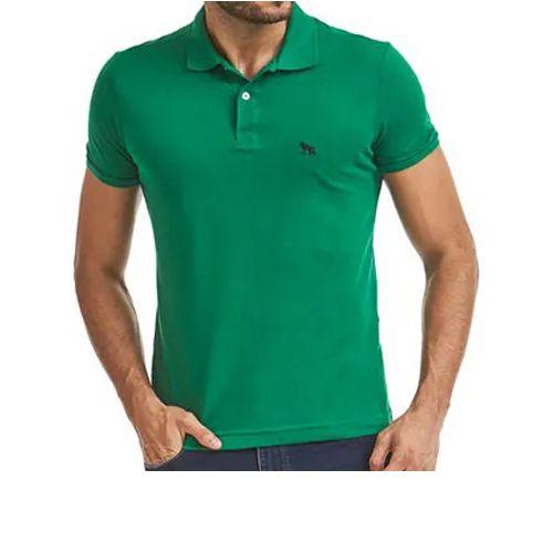 Polo Masculina Manga Curta Camisa Acostamento Verde 7384
