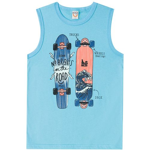 Regata Infantil Masculina Skate Boca Grande BG45928*