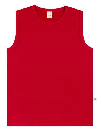 Regata Infantil Menino Vermelha Básica BG7268*