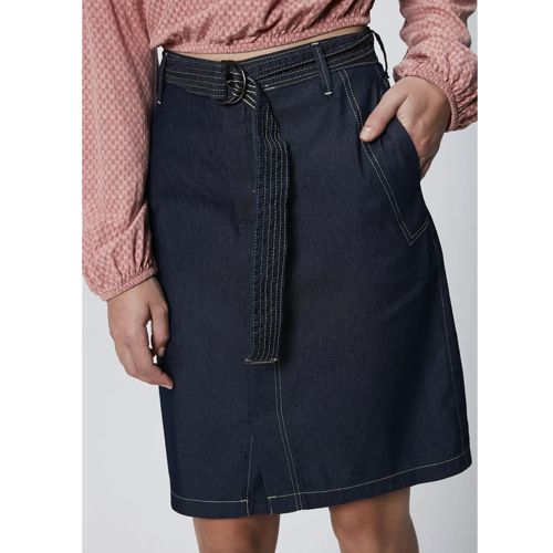 Saia Jeans com Cinto Damyler