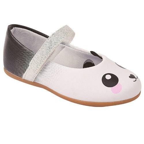 Sapatilha Infantil Feminino Pesh Panda Branco P000680001*
