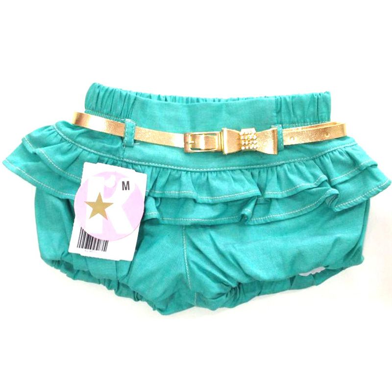 Shorts Infantil Feminino de Babados Kidin´s KD4290