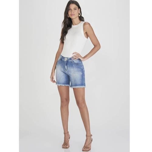 Shorts Jeans Curve Lado Avesso L116027W
