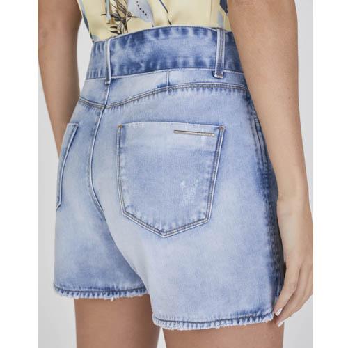 Shorts Jeans Mom Lado Avesso com Cinto L116149