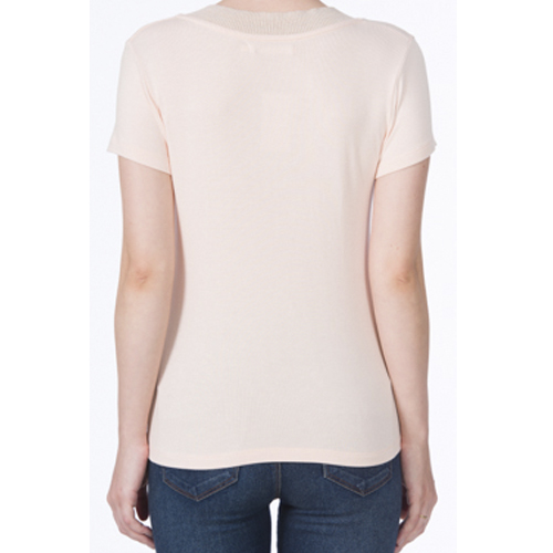 T-shirt Feminina Gola Tricot Metalizado Acostamento