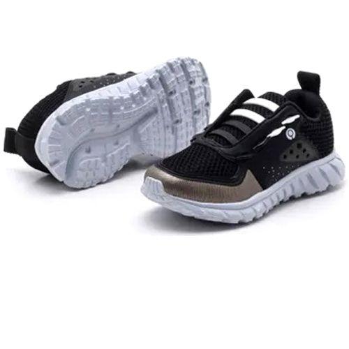 Tênis Ortopé Infantil Jogging College Preto Estica e Puxa O2151623*