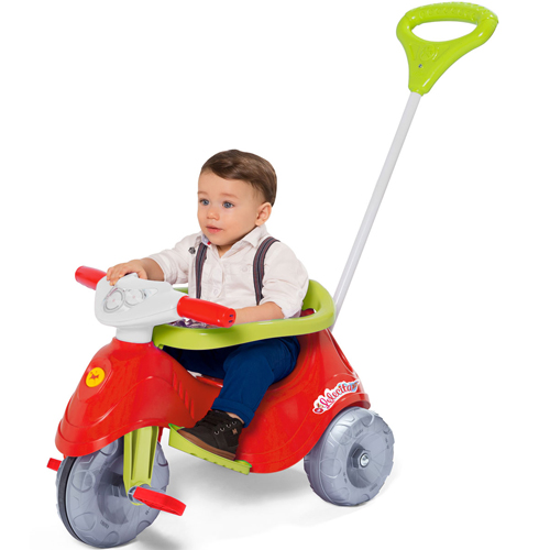 Triciclo Infantil Lelecita Rosa Com Empurrador Calesita 1006