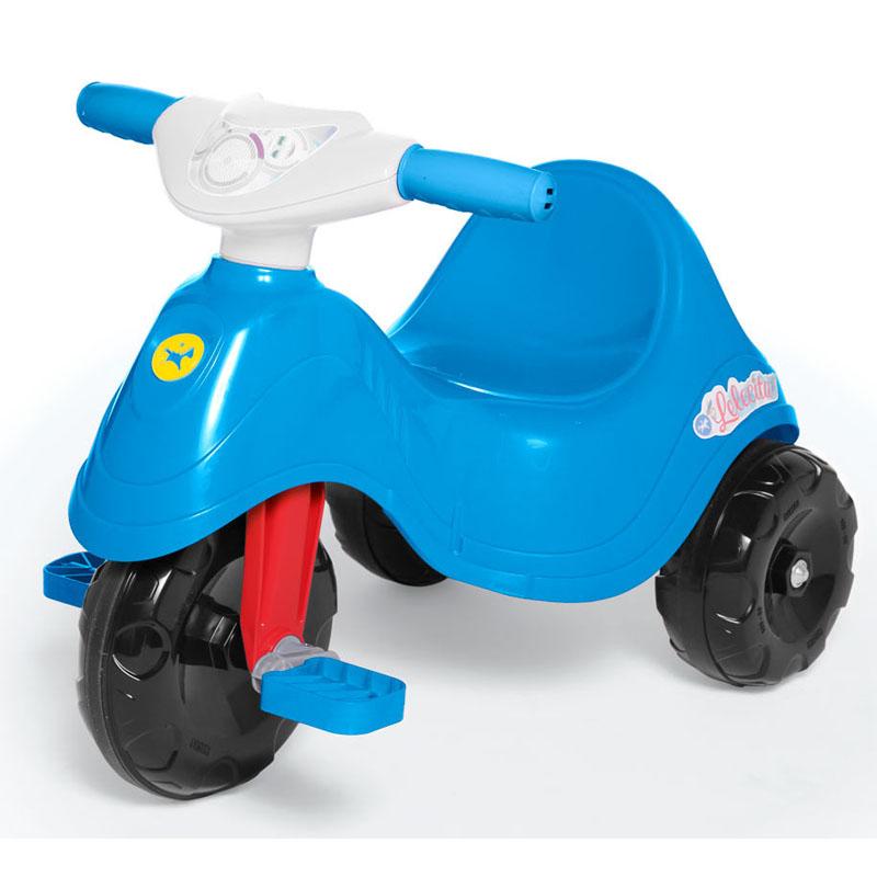 Triciclo Lelecita Azul com Empurrador Calesita 1004