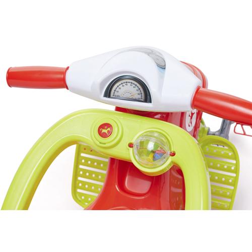 Triciclo Lelecita Vermelho com Empurrador Calesita 1005