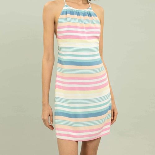 Vestido Feminino Lez a Lez com Alças Estampa Waves 1332L