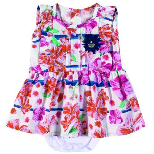 Vestido com Body Infantil Feminino Floral C62.830*