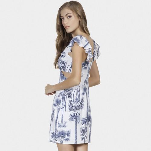 Vestido Estampado em Tecido Exotica Lez a Lez LZ656