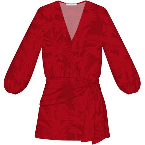 Vestido Feminino Curto Manga Longa Faixa Berverly Lez a Lez 1938L