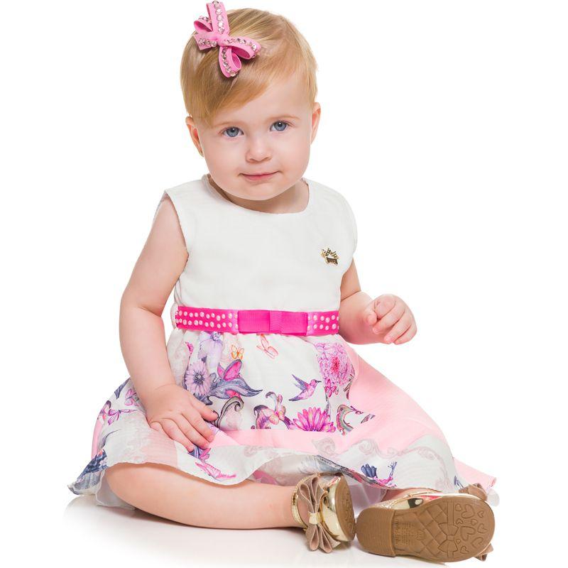 Vestido Infantil Feminino Bebê Fada BG/G 20081