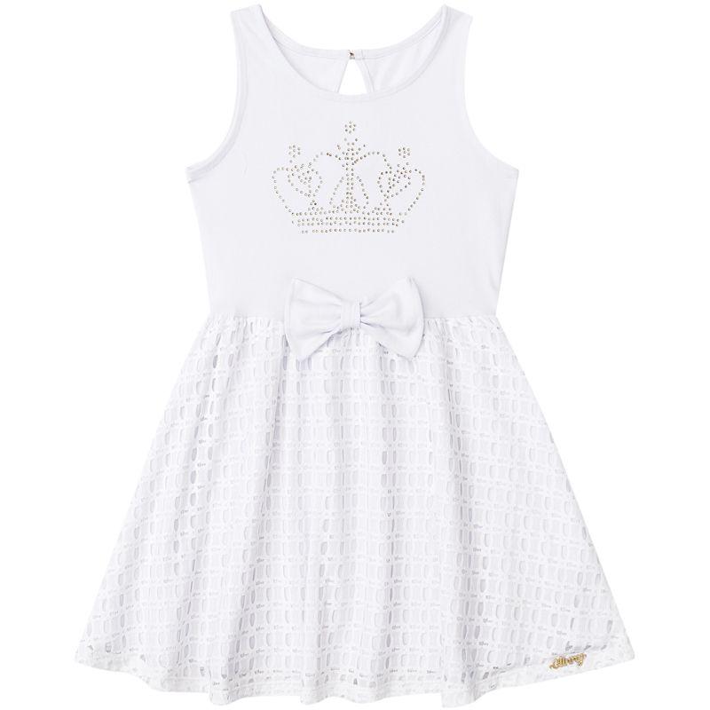 Vestido Infantil Feminino Branco BG/G22097*