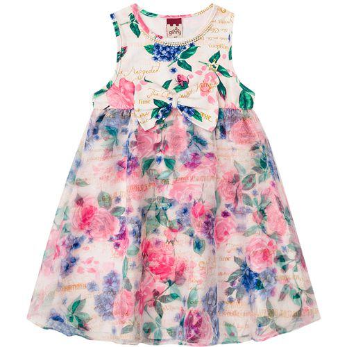 Vestido Infantil Feminino Estampa 3D BG/G21050