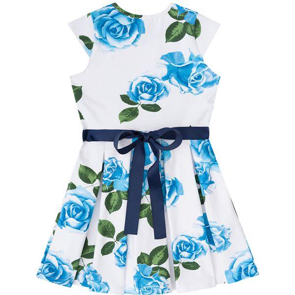 Vestido Infantil Feminino Floral Azul Boca Grande BG/G21047
