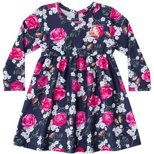 Vestido Infantil Feminino Floral BG/G20084*