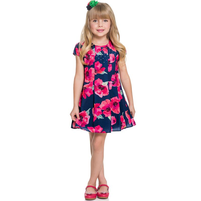 Vestido Infantil Feminino Floral Boca Grande BG/G22096