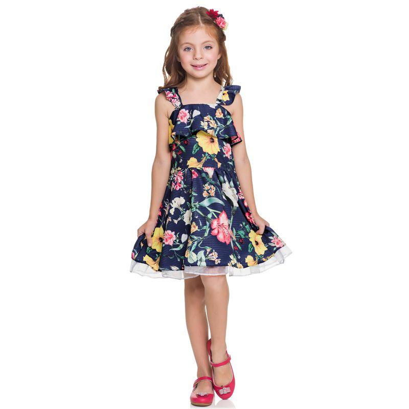 Vestido Infantil Feminino Floral Boca Grande BG/G22087