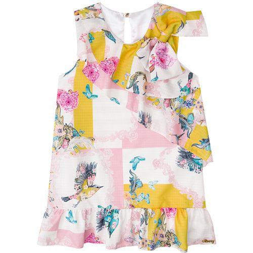 Vestido Infantil Feminino Floral Boca Grande BG/G22090*