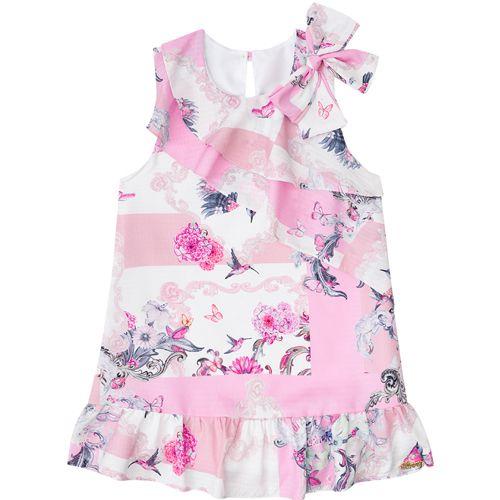 Vestido Infantil Feminino Floral Boca Grande BG/G22090
