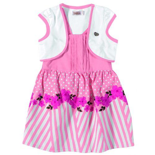 Vestido Infantil Feminino Floral Rosa Carinhoso C62.860*